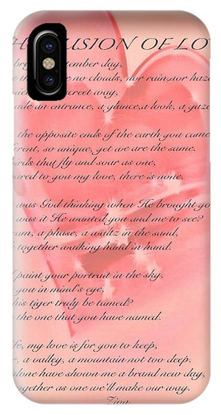 The Fusion Of Love Poem IPhone Case