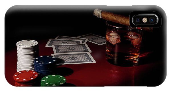 Chip iPhone Case - The Gambler by Tom Mc Nemar