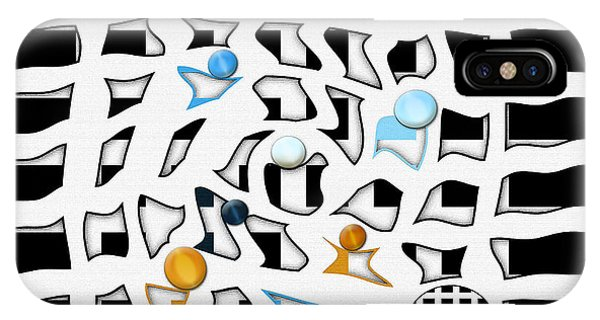 Having Fun iPhone Case - The Game by Jennifer Page