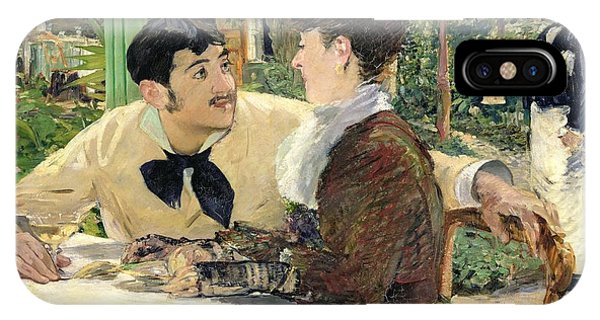 Cafe iPhone Case - The Garden Of Pere Lathuille by Edouard Manet
