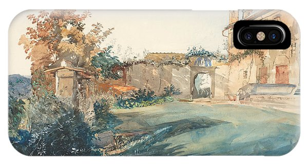iPhone Case - The Garden Of San Miniato Near Florence by John Ruskin