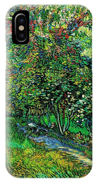 iPhone Case - The Garden Of The Asylum At Saint-remy by Vincent van Gogh