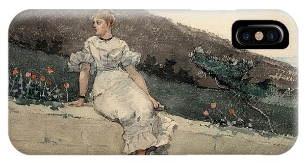 Impressionistic iPhone Case - The Garden Wall by Winslow Homer