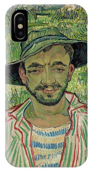 Van Gogh Museum iPhone Case - The Gardener, Young Peasant by Vincent van Gogh
