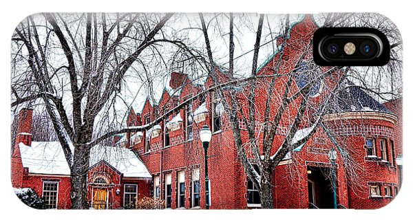 The Gardiner Library In Winter IPhone Case