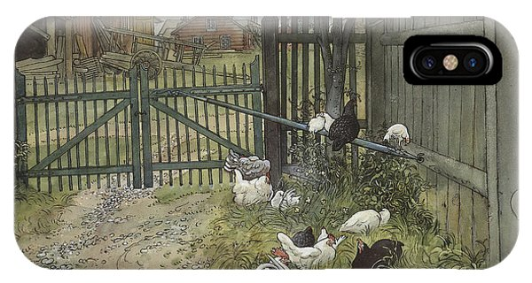 Barnyard iPhone Case - The Gate by Carl Larsson