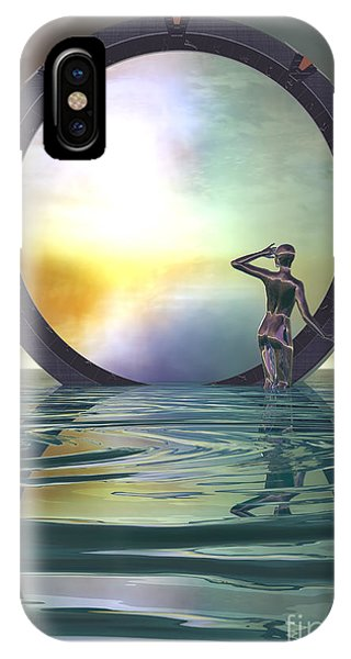 IPhone Case featuring the digital art The Gate by Sandra Bauser Digital Art