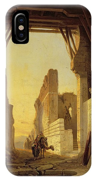 Gateway Arch iPhone Case - The Gates Of El Geber In Morocco by Francois Antoine Bossuet