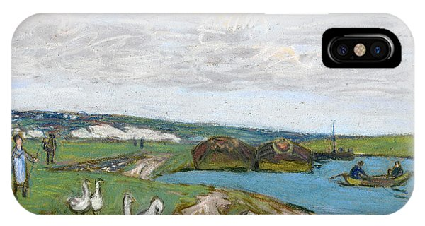 Impressionistic iPhone Case - The Geese by Alfred Sisley