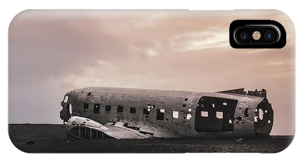 The Ghost - Plane Wreck In Iceland IPhone Case