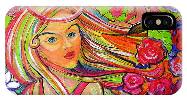 The Girl With The Flowers In Her Hair IPhone Case