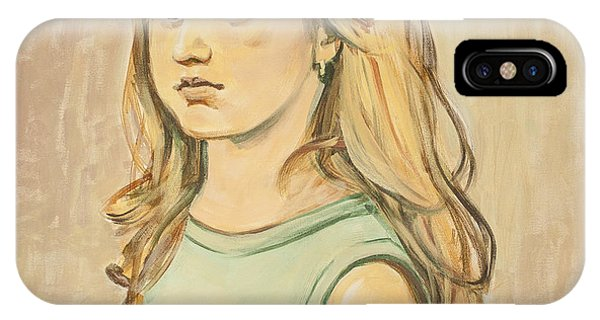 The Girl With The Golden Hair IPhone Case