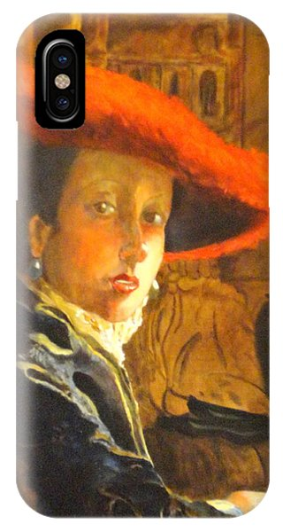 The Girl With The Red Hat After Jan Vermeer IPhone Case