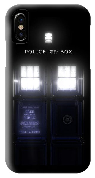 iPhone Case - The Glass Police Box by Jules Gompertz