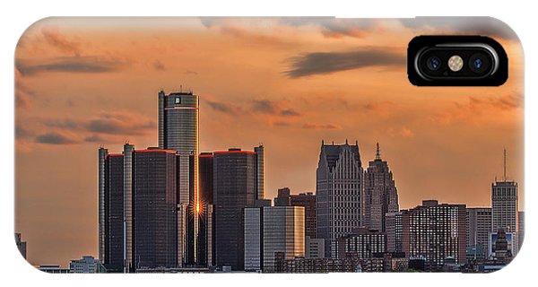 Renaissance Center iPhone Case - The Golden Age Of Detroit by Pat Eisenberger