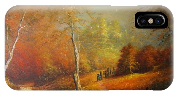 Golden Forest Of The Elves IPhone Case