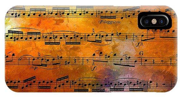 The Golden Music Of Motzart IPhone Case