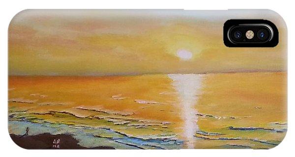 The Golden Ocean IPhone Case