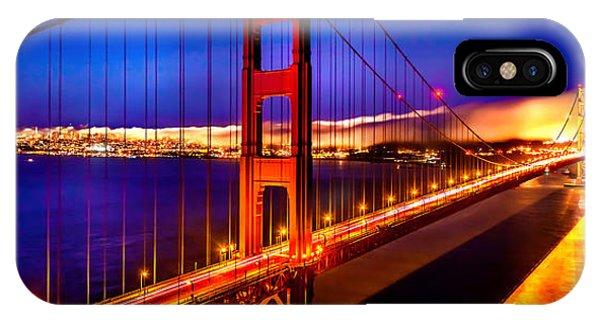 Bay Bridge iPhone Case - The Golden Path by Az Jackson