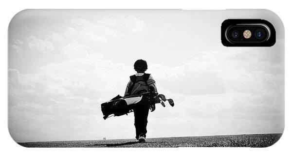 Golf iPhone Case - The Golfer by Shawn Wood