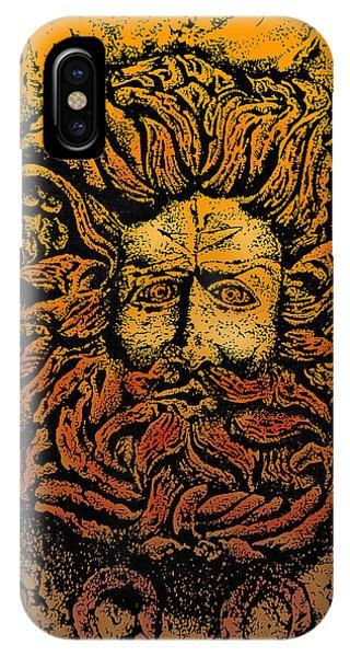 The Gorgon Man Celtic Snake Head IPhone Case