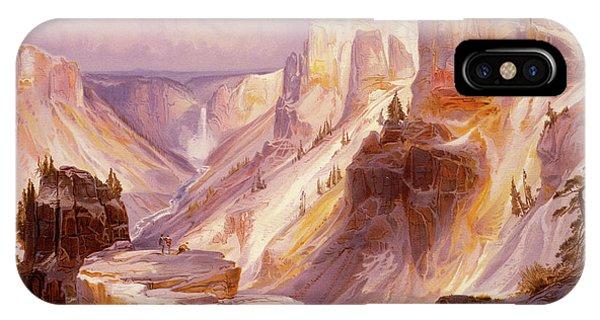 Rocky Mountain iPhone Case - The Grand Canyon, Yellowstone by Thomas Moran