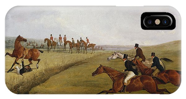 Accident iPhone Case - The Grand Leicestershire Steeplechase, March 12th, 1829 by Henry Thomas Alken
