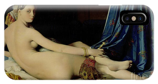 Peacocks iPhone Case - The Grande Odalisque by Ingres