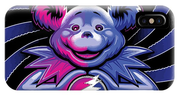 Fare iPhone Case - The Grateful Bear Ilustration by The Bear