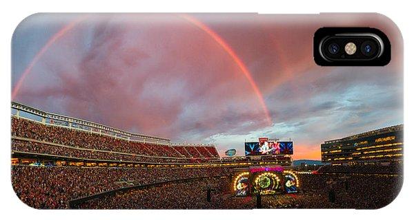 Fare iPhone Case - The Grateful Dead Rainbow Of Santa Clara, California by Beau Rogers
