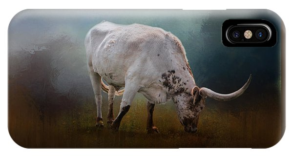 The Grazing Texas Longhorn IPhone Case