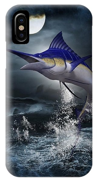 The Great Blue Marlin IPhone Case