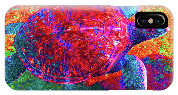 The Great Sea Turtle In Abstract IPhone Case