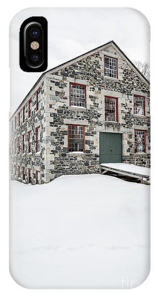 New England Barn iPhone Case - The Great Stone Barn by Edward Fielding