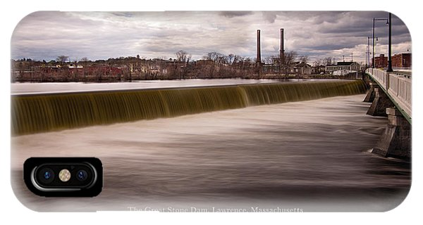 The Great Stone Dam Lawrence, Massachusetts IPhone Case