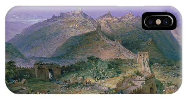 Hong Kong iPhone Case - The Great Wall Of China by William Simpson