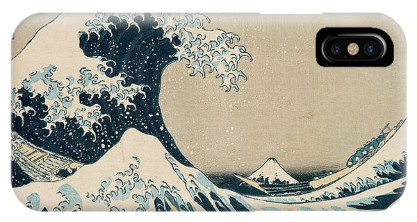 Sea iPhone X Case - The Great Wave Of Kanagawa by Hokusai