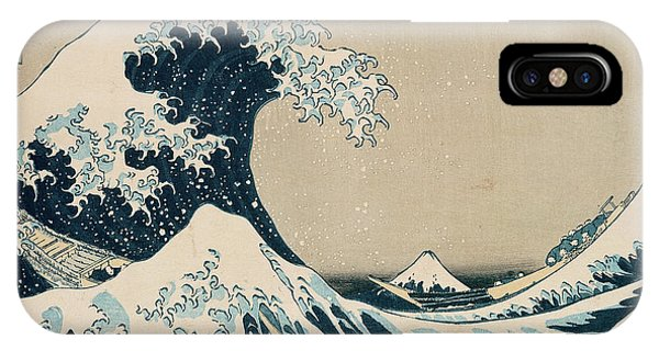 Beach iPhone X Case - The Great Wave Of Kanagawa by Hokusai
