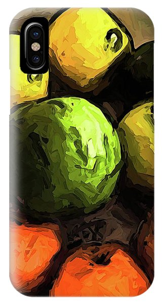 The Green And Gold Apples With The Orange Mandarins IPhone Case