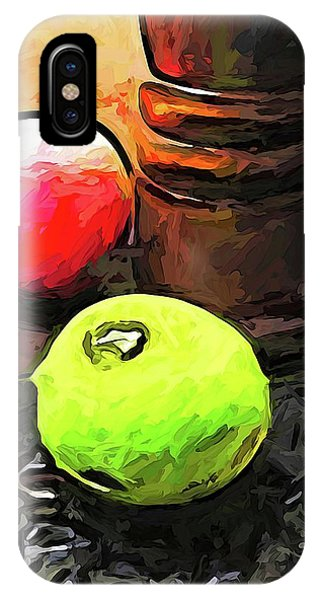 The Green Lime And The Apple With The Pepper Mill IPhone Case