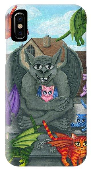 The Guardian Gargoyle Aka The Kitten Sitter IPhone Case