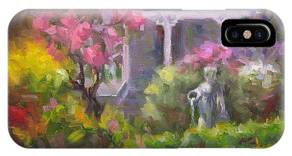 The Guardian - Plein Air Lilac Garden IPhone Case