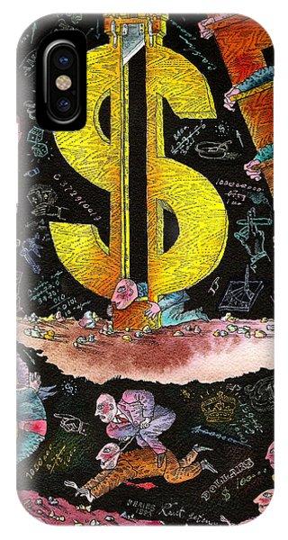 Debts iPhone Case -  Financial Crisis  by Leon Zernitsky