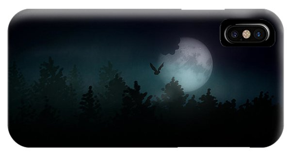 iPhone Case - The Hallowed Moon by Jules Gompertz