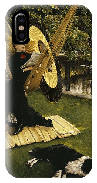 Relaxation iPhone Case - The Hammock by James Jacques Joseph Tissot