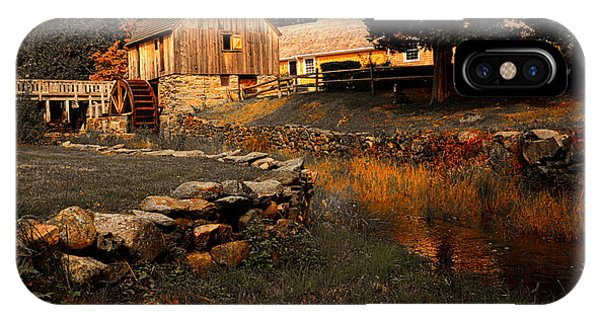 New England Barn iPhone Case - The Hammond Gristmill by Lourry Legarde