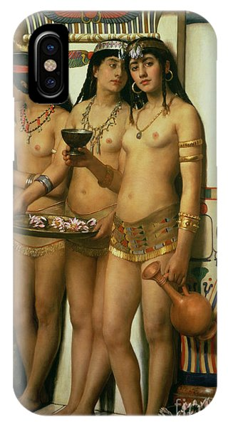 Columns iPhone Case - The Handmaidens Of Pharaoh by John Collier