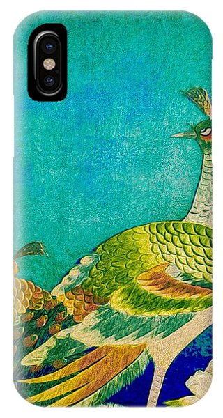 The Handsome Peacock - Kimono Series IPhone Case