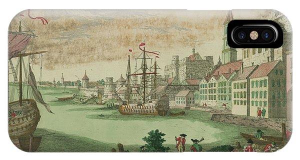 The Harbor In Boston, Massachusetts, 1770  IPhone Case