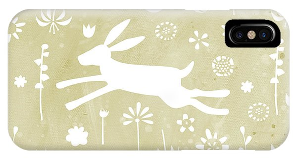 Pattern iPhone Case - The Hare In The Meadow by Nic Squirrell